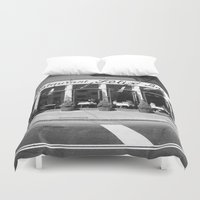 broadway Duvet Covers featuring Broadway by Jon Cain