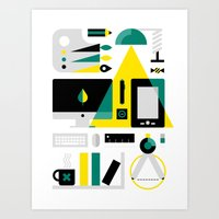 kit king Art Prints featuring Designer's Kit by koivo