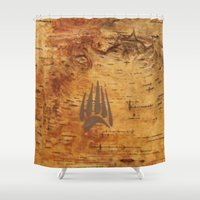 birch Shower Curtains featuring Birch by Shaun Hedican