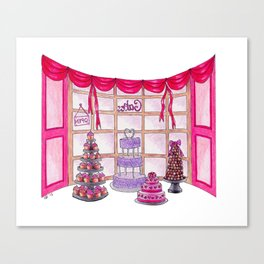 Inside The Cake Shop Canvas Print