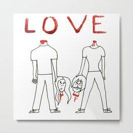 Bloody Love Metal Print