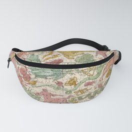 Antique Astrology Zodiac Pictorial Map of Libra Fanny Pack