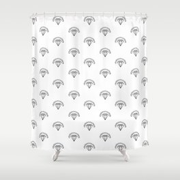 Diamonds - Black Shower Curtain