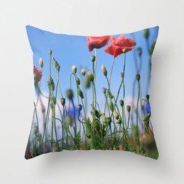 poppy flower no10 Throw Pillow