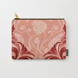 Abstract Lily Scroll | peach coral Carry-All Pouch