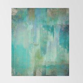 Aqua Circumstance Throw Blanket
