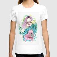 garden T-shirts featuring Garden  by Veronika Weroni Vajdová