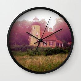 Lighthouse Fog Wall Clock