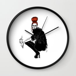 Redhead fashion model Wall Clock