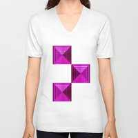abyss V-neck T-shirts featuring Purple Abyss by Peter Gross