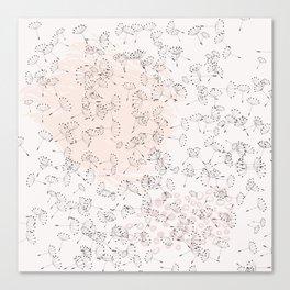Dandelion field. Abstract pattern Canvas Print