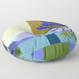 African Lily of the Nile Floor Pillow
