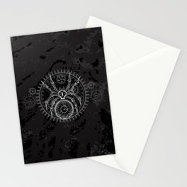 White Mechanical Spider Stationery Cards