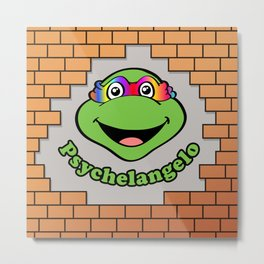 Psychelangelo - The Lost Ninja Turtle Metal Print