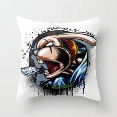 REBBEL RABBIT Throw Pillow