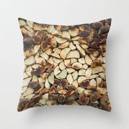 logs Throw Pillow