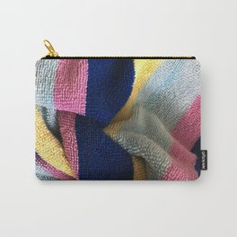Multicolor Stripe Textile Carry-All Pouch