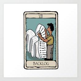 Office Tarot Cards - Series 2 - Agile - Backlog Art Print