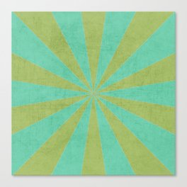 green and mint starburst Canvas Print