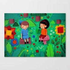 Pixel Garden Canvas Print