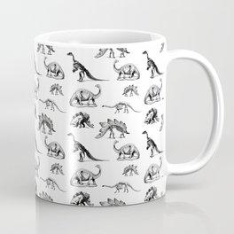 Museum Animals | Dinosaur Skeletons on White Coffee Mug