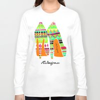 heels Long Sleeve T-shirts featuring Aztec - Heels by RsDesigns