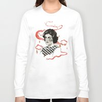 audrey Long Sleeve T-shirts featuring Audrey by moon-meat