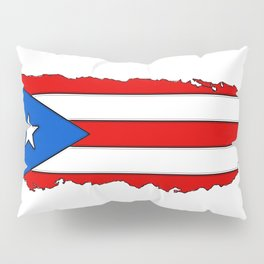 Puerto Rico Map with Puerto Rican Flag Pillow Sham