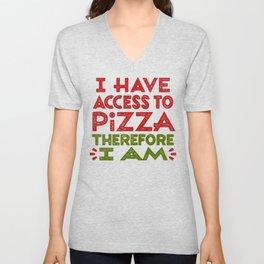 Pizza Ergo Sum Unisex V-Neck