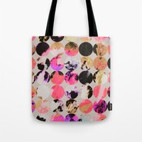 circles Tote Bags featuring Circles by Georgiana Paraschiv