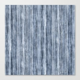 Blue Watercolor Wood Grain Stripe Canvas Print