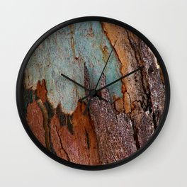 Eucalyptus Tree Bark and Wood Abstract Natural Texture 25 Wall Clock