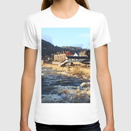 Llangollen Railway Station by the River Dee, Wales T-shirt