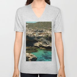 The small cliffs of rottnest island Unisex V-Neck