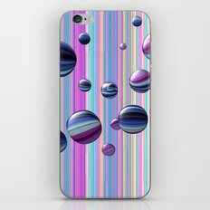 Сolored bubbles and stripes iPhone Skin