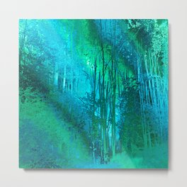 Psychedelic Forest (blue-green) Metal Print