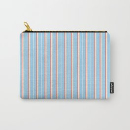 Blue Stripe Pattern Carry-All Pouch