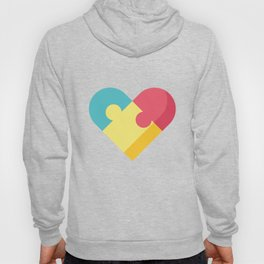 Autism Awareness Colorful Heart graphic Gift for Mom Hoody