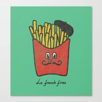 french fries Canvas Prints featuring French Fries by Picomodi
