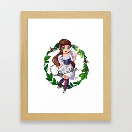 Christmas Angel Chibi Framed Art Print