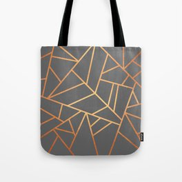 Copper And Grey Tote Bag