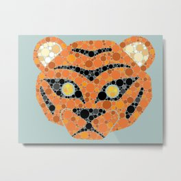 Colourblind Tiger Metal Print