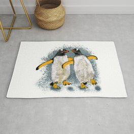 Happy penguin couple - White Rug