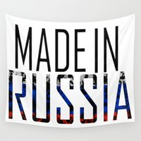russia Wall Tapestries featuring Made In Russia by VirgoSpice