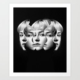 Woman in Anger Art Print