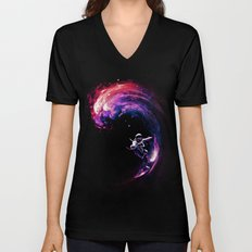 Space Surfing Unisex V-Neck