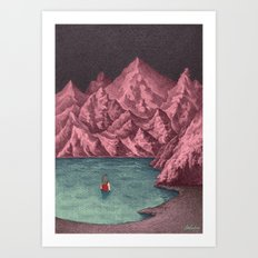 Swimming in your mind Art Print