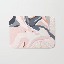 Elegant Zen Marbled Effect Design Bath Mat