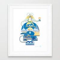 greece Framed Art Prints featuring Greece by Patrick Welham