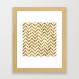 Glittery Chevron Framed Art Print